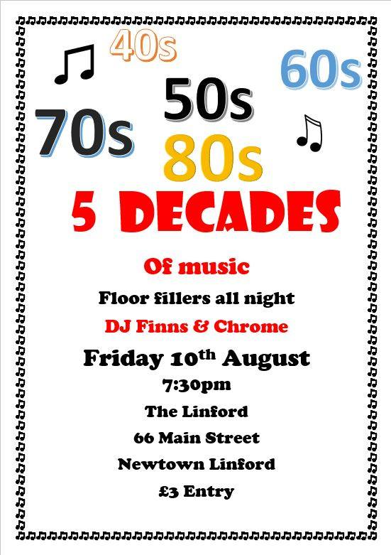 5 decades of music at The Linford